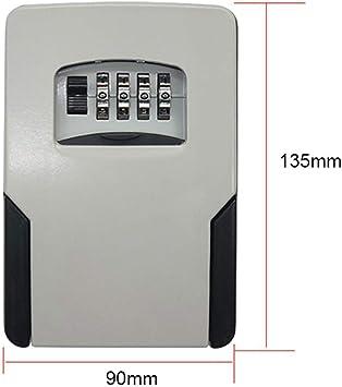 Caja de bloqueo con llave Caja de almacenamiento de llaves montada en la pared al aire