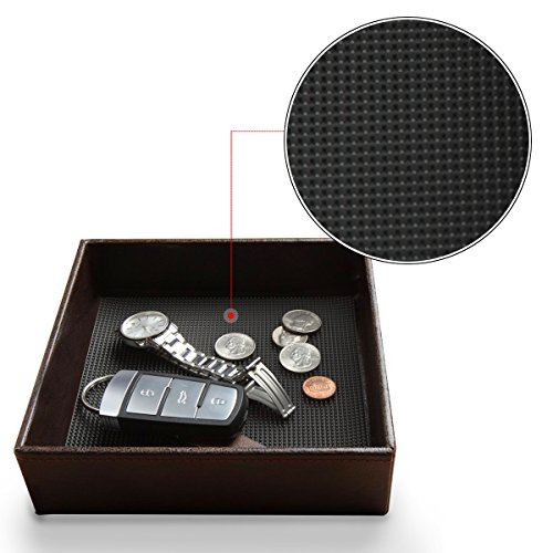 Jack Cube Leather Rubber Finger Scraper Mat Valet Tray St...