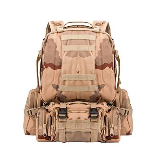 Asalto Combinado WanYang Patrulla para Hombre Militar Mochila Senderismo Rucksack Camuflaje Camping Mujer Backpack Deporte Táctica Paquete C de 5SnSqP