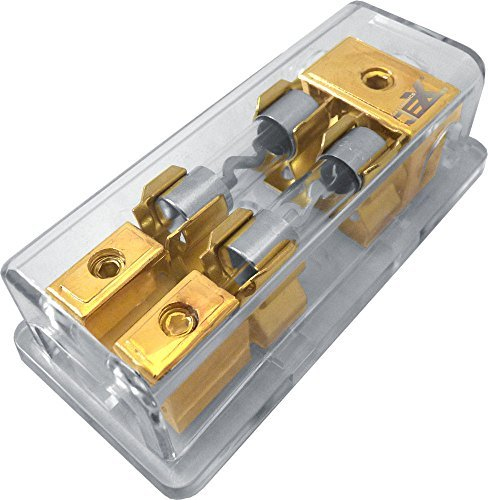 Jex Electronics 2/Twin/2X AGU In-Line Fuse Holder Distribution Block Stereo/Audio/Car 30A-100A