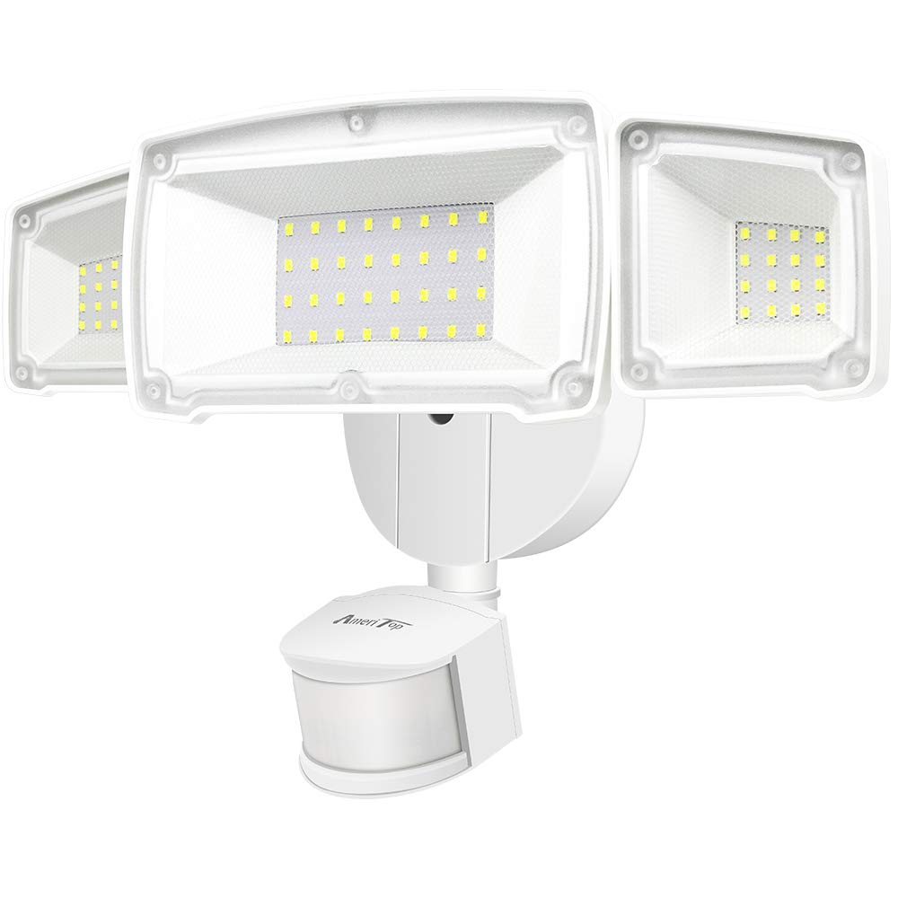 Motion Sensor Lights Outdoor, AmeriTop 39W Ultra Bright 3500LM LED Security Flood Lights; High Sensitivity/Wide Angle Illumination/ 2 Control Dials Mode/ETL Certified & IP65 Waterproof Outdoor Light