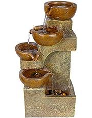 Alpine Tiering Pots Fountain, 17 Inch Tall