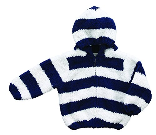Chenille Hooded Jacket - Angel Dear Baby Chenille Hoodie, Navy/White, 0/6M