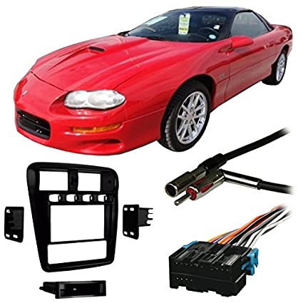 amazon com: fits chevy camaro 1997-2002 double din stereo harness radio  install dash kit: car electronics