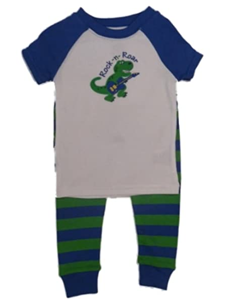 1cb716e9a Amazon.com  Faded Glory Infant Toddler Boys Dinosaur PJs Set Dino ...