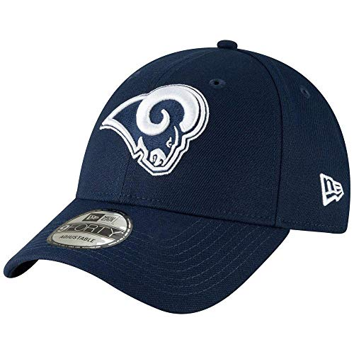 New Era 9Forty Hat Los Angeles Rams The League Navy Blue Adjustable Cap (Rams Hat New Era)