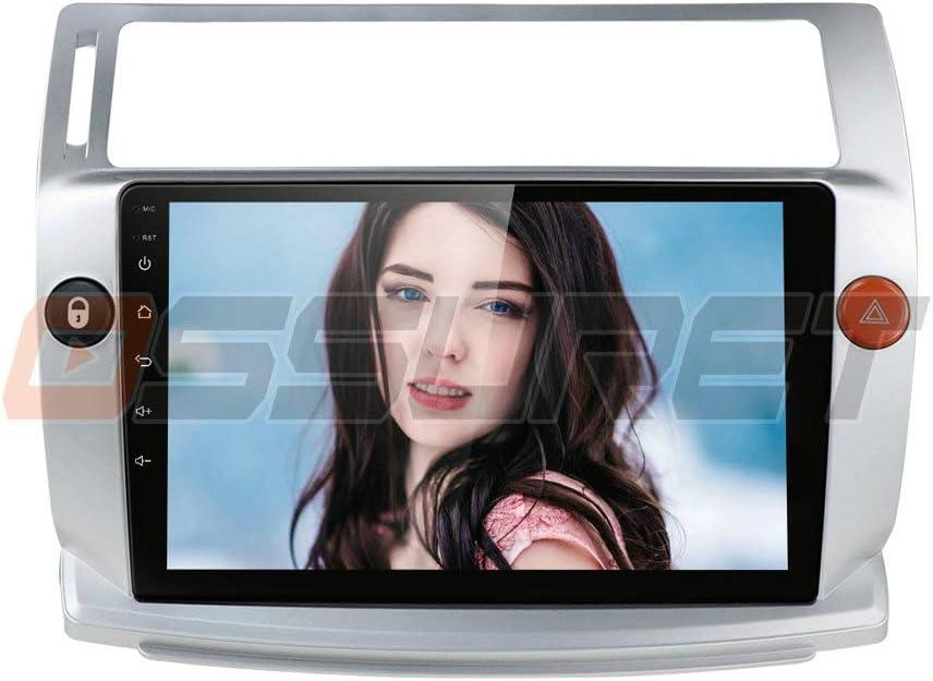 Ossuret 9 Inch Car Stereo Android 10 Car FM Radio Fit para Citroen C4 / C-Triomphe/C-Quatre 2004-2009 Soporte de Control del Volante + micrófono ...