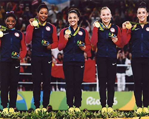Finals Action Photo - THE FINAL FIVE 2016 USA WOMEN'S OLYMPIC GYMNASTIC'S TEAM 8X10 SPORTS ACTION PHOTO (RIO)