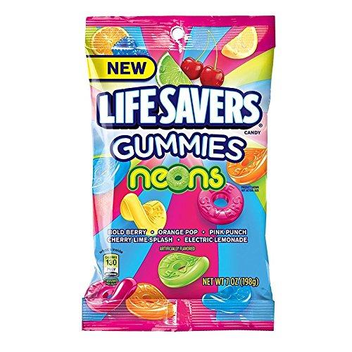 - Lifesavers Gummies Neons Flavor Mix, 7 Ounce Bag