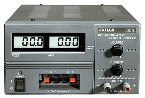 Extech 382213 Digital Triple Output DC Power Supply ()