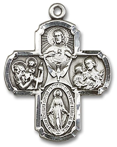 Heartland Store Men's Squared Edge 4 Way Cross Pendant - Pendant Only