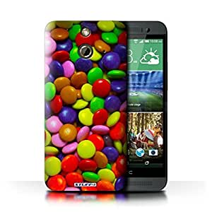 KOBALT? Protective Hard Back Phone Case / Cover for HTC One/1 E8   Smarties Design   Sweets & Candy Collection