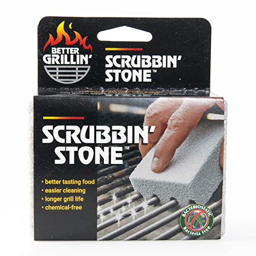 (Better Grillin' Scrubbin' Stone Grill Cleaner - Scouring Brick/Barbecue Grill Brush/Barbecue Cleaner - Advanced Green Technology Easily Removes Grime and Grease from BBQ, Grills, Griddles, Racks)