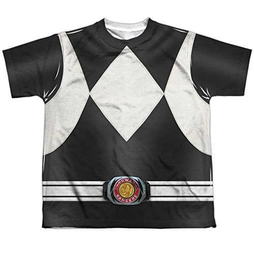 Youth: Power Rangers- Black Ranger Kids T-Shirt Size YS