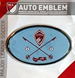 Colorado Rapids Raised Metal Domed Oval Color Chrome Auto Emblem Decal MLS Soccer Football Club