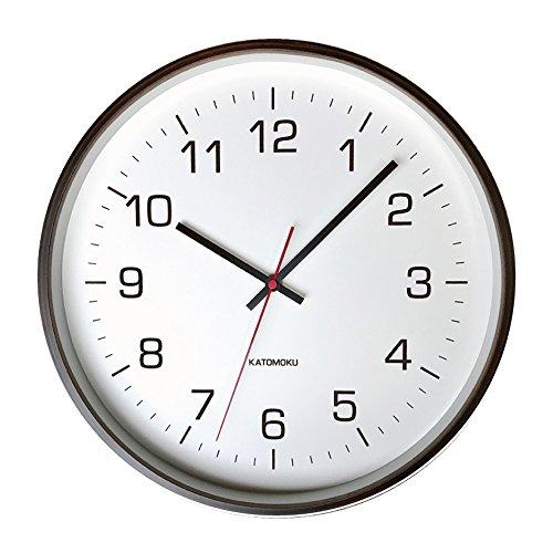 KATOMOKU plywood wall clock 4 km-61BRC ブラウン 電波時計 連続秒針 φ304mm B076BDTV4B