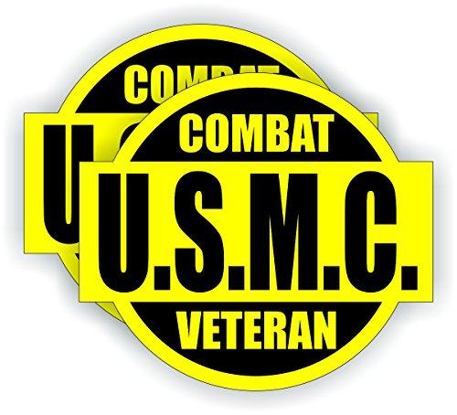 Smores Combat (USMC Combat Veteran Hard Hat / Helmet Sticker Decal Label Marines Hoorah)