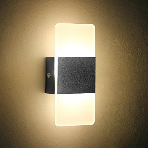 Oenbopo Led Wall Light Bedside Wall Lamp Modern Acrylic