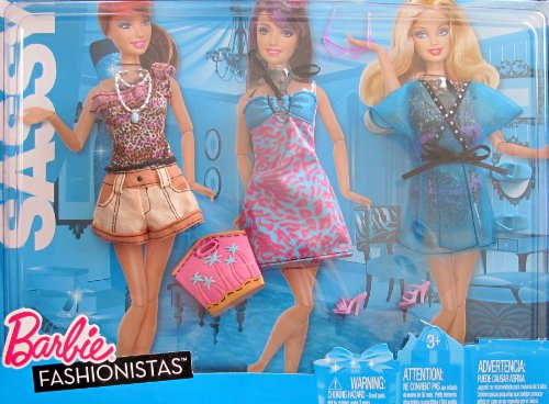 Barbie Fashionistas SASSY FASHIONS w Animal Print TRAVEL VACATION Clothes (2010)