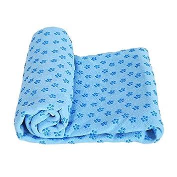 YOOMAT 180 * 62cm Non Slip Yoga Mat Cover Towel Blanket ...
