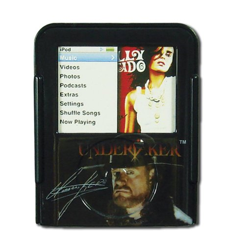 Ipod Nano Black Neck Strap - WWE ipod Nano Video Case with