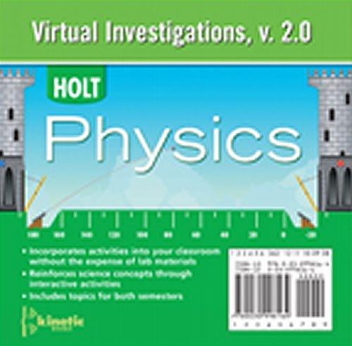 Holt McDougal Physics: Virtual Investigations CD-ROM
