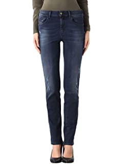 Diesel Sandy 0679K Stretch Damen Jeans Hose Slim Straight