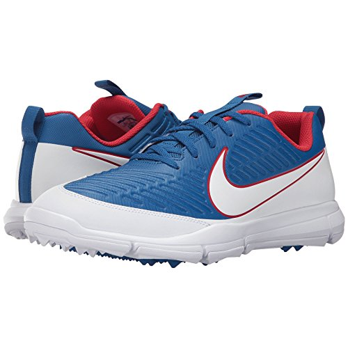 Tiger Golf Shoes - Nike Explorer 2 Spikeless Golf Shoes 2017 Blue Jay/White/University Red Medium 10.5