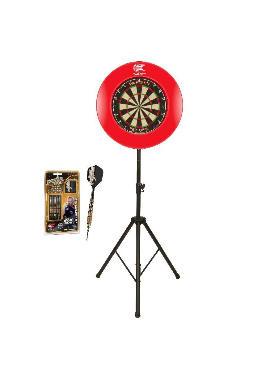 Surround /& St/änder Target Starter Set Maxi Dartboard Darts