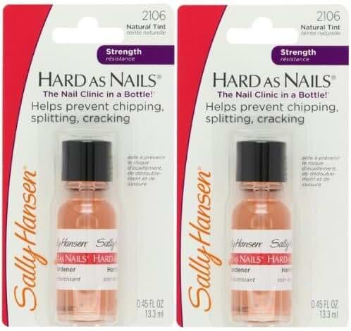 Sally Hansen Hard As Nails Hardener Natural Tint #2106 (PACK OF 2 BOTTLES)
