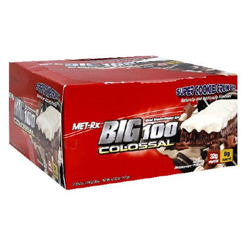 Met-Rx Big 100 Bar Colossal substitut de repas, Crunch Cookie Super, 12 Bars, 3,52 Onces
