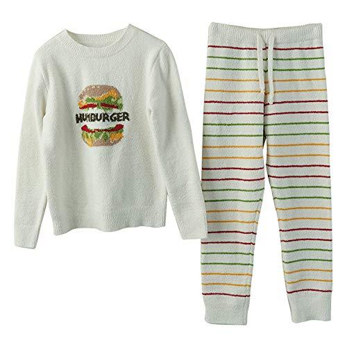 Lana Domicilio Cálidos Pijamas White Suave A Servicio Rayas Hamburgo Invierno Mmllse Femeninos 8zXxnSqwW