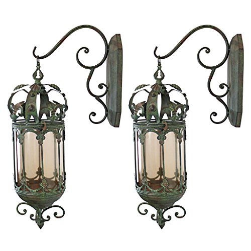 - Design Toscano Crown Royale Hanging Pendant Lantern (Set of 2)