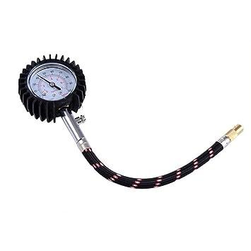 winomo 100 PSI de presión de neumáticos Manómetro Medidor para Coche Camión Moto o Bicicleta: Amazon.es: Bricolaje y herramientas