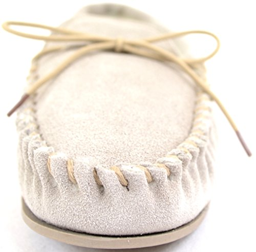 SNUGRUGS Ladies With Warm Genuine Womens Wool Leather Lining Slippers Beige Moccasin Suede Oddqwx0r
