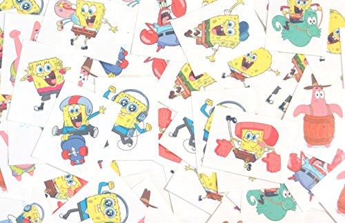 (Spongebob Temporary Tattoos Made in USA (72 Per)