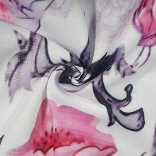 Playa De De Cuello Sin Nocturna Vestido Mujeres Vestidos del Poliéster Fiesta Florales En Verano Mangas La Slash Corto Fuera Mini Hombro YUANLINGWEI S M 7TqZ0AO0