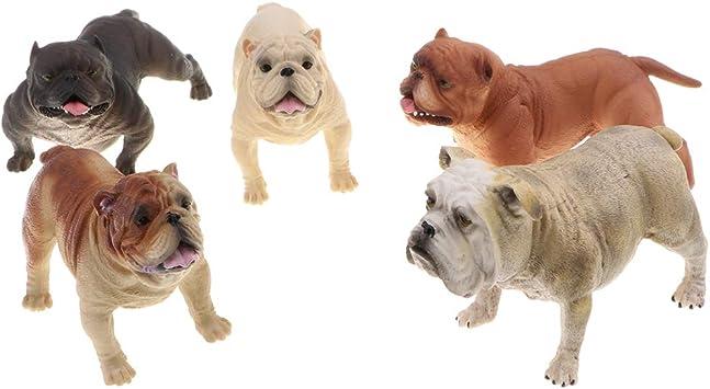 Mini French Bulldog Dog Pet Figure Modèle Animal collector Jouet Décoration Cadeau