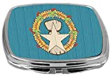 Rikki Knight Compact Mirror on Distressed Wood Design, Northern Mariana Islands Flag, 3 Ounce