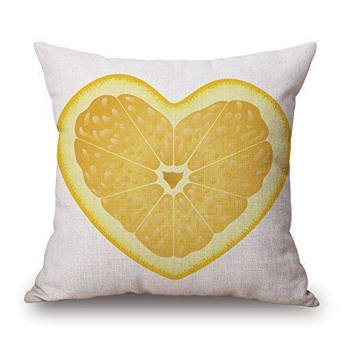FAVIBES Cojín 18 X 18 Cuadrados con Forma De Corazón Fruta Y ...