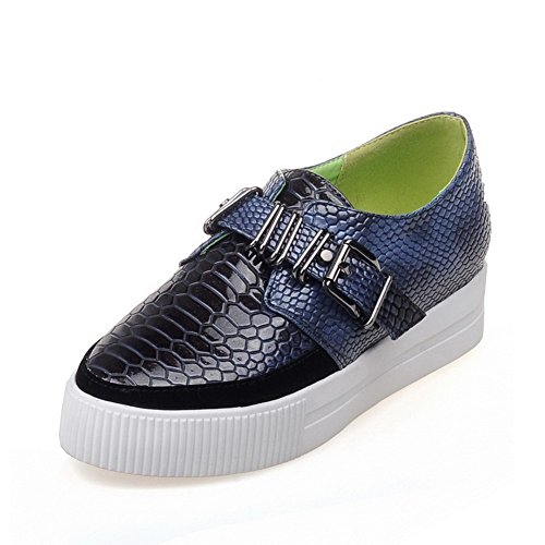 Buckle Cobra UK Loafers Shoes Snakeskin 6 1TO9 Platform Blue MMS03278 Womens 5qxnW47O