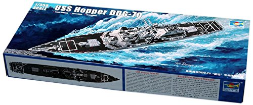 Destroyer Military - Trumpeter 1/350 Scale USS Hopper DDG70 Arleigh Burke Class Flight Ila Guided Missile Destroyer
