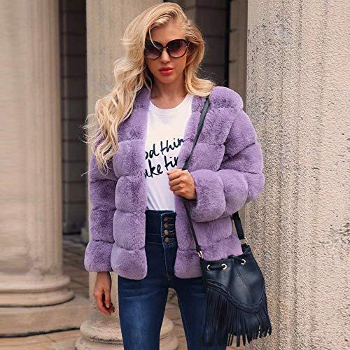 Púrpura Faux Exteriores Chaqueta De Escudo Casual Coat Invierno Parka Mujeres Cálido Fur Outwear Señoras Prendas Abrigo Las Moda Jacket Vestir Fzxxgq1H