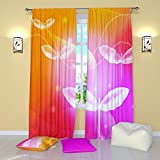 """Colorful Curtains by Factory4me Shining dragonflies. Window Treatment Curtain Panel (Set of 2) Bedroom, Kitchen, Living, Kids Room W84"""" x L84"""" Polyester"""