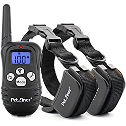 Petrainer Upgraded Version Dog Shock Collar 1000 ft Remote Dog Training Collar with Beep/Vibration/Shock Electric Dog Collar Dogs, Rechargable & Rainproof