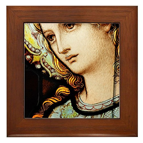 Framed Tile Mother Mary Stained Glass