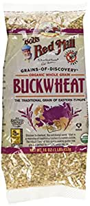 Bob's Red Mill, Organic Whole Grain Buckwheat Groats, Gluten Free, 16 Ounce (453 g)