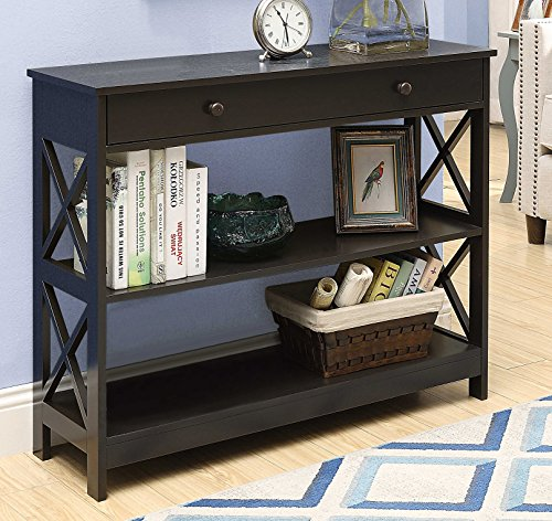 Espresso Collection Foyer Table - Convenience Concepts Oxford 1-Drawer Console Table, Espresso