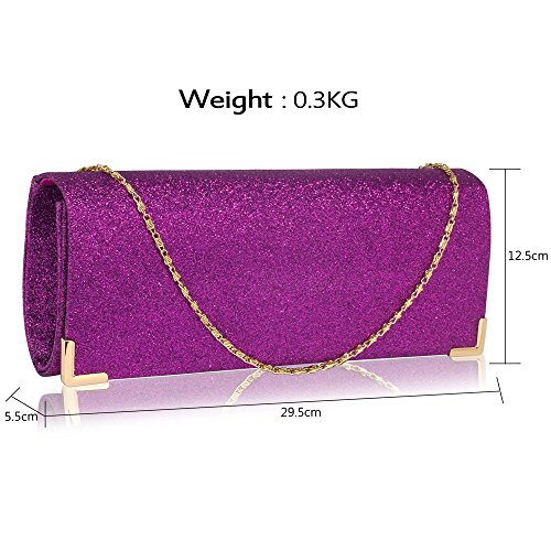 For Women Purple 1 Party Unique Long Glitter Club New Handbag Purse Bag Ladies Design Evening Bridal Design Wedding Clutch xAgqtwEU