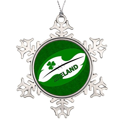 Xmas Trees Decorated Ireland Rugby Ball Design Halloween Snowflake Ornaments